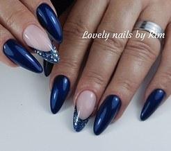 Blauwe set met combo french reverse